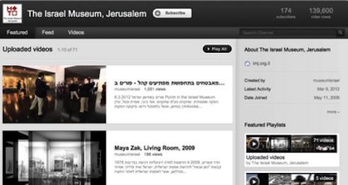 Israel Museum on Youtube