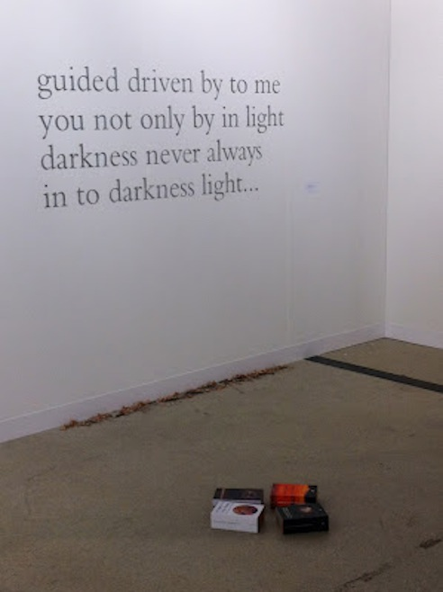Douglas Gordon and Claire Fontaine at Dvir Gallery's booth, Art Basel 2012