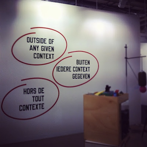Lawrence Weiner at Art Basel 2012
