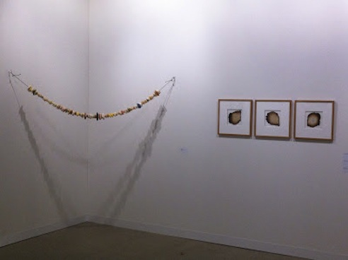 Miroslaw Balka at Dvir Gallery's booth, Art Basel 2012