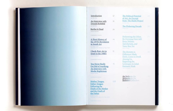 Table of Contents, photographed by James Andrew Rosen