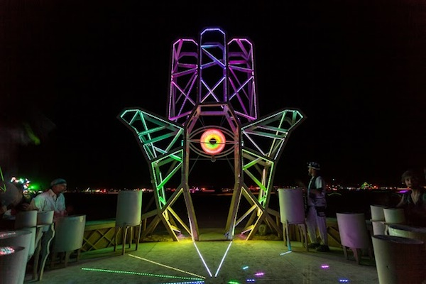 Hand Of Inspiration, CORE project at Burning Man 2013, photo by Sharon Avraham