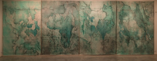 map2013 pastel,graphite and oil on canvas 210x300(x4)cm